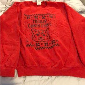 Sweaters - Meowy Christmas ugly Christmas sweatshirt